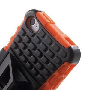 Outdoor odolný obal na mobil iPhone 4 - oranžový - 7