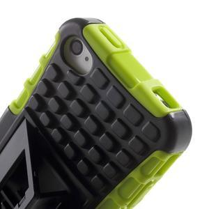 Outdoor odolný obal na mobil iPhone 4 - zelený - 7