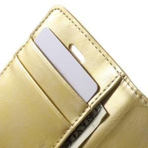 Moon PU kožené pouzdro na mobil iPhone 4 - zlaté - 7