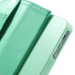 Moon PU kožené pouzdro na mobil iPhone 4 - azurové - 7