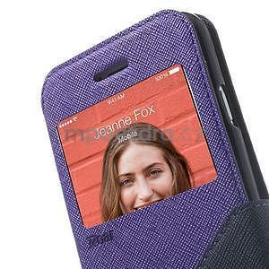 Peněženkové pouzdro s okýnkem na iPhone 6 a 6s - fialové - 7