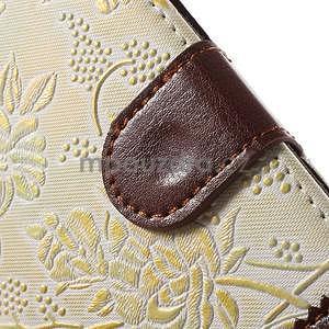 Elegantní květinové peněženkové pouzdro na iPhone 6 a 6s - bílé - 7