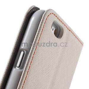 Klopové pouzdro na iPhone 6 a iPhone 6s - bílé - 7
