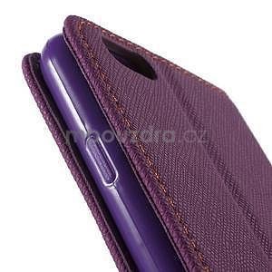 Klopové pouzdro na iPhone 6 a iPhone 6s - fialové - 7