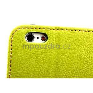 PU kožené peněženkové pouzdro pro iPhone 6s a 6 - zelené - 7