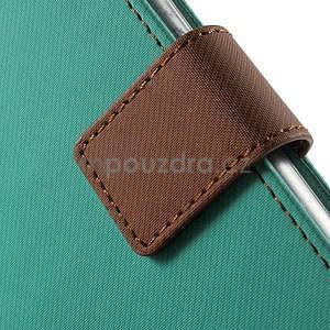 Peněženkové koženkové pouzdro na iPhone 6s a 6 - zelené - 7