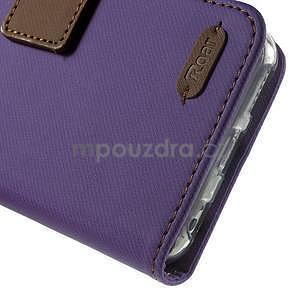 Peněženkové koženkové pouzdro na iPhone 6s a 6 - fialové - 7