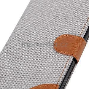 Látkové/koženkové peněženkové pouzdro na iphone 6s a 6 - šedé - 7