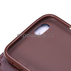 Jeans látkové/pu kožené peněženkové pouzdro na iPhone 6 a 6s - světle modré - 7