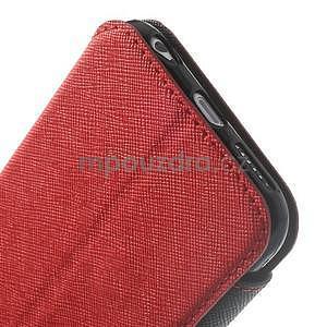 Peněženkové pouzdro s okýnkem na iPhone 6 a 6s - červené - 7
