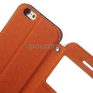 Peněženkové pouzdro s okýnkem na iPhone 6 a 6s - oranžové - 7
