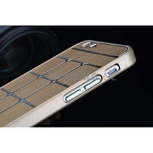 Stylový kryt s kovovými zády pro iPhone 6 Plus a 6s Plus - champagne - 7