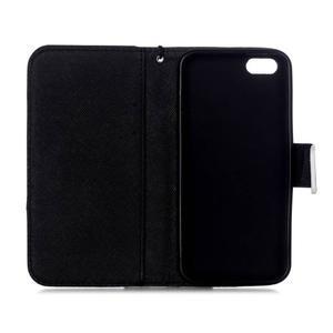 Peněženkové pouzdro na mobil iPhone SE / 5s / 5 - lebka - 7