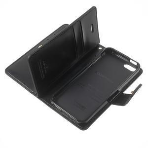 Extrarich PU kožené pouzdro na iPhone SE / 5s / 5 - černé - 7