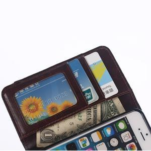 Jeans peněženkové pouzdro na mobil iPhone SE / 5s / 5 - černomodré - 7