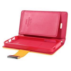 Rich diary PU kožené pouzdro na iPhone SE / 5s / 5 - žluté - 7