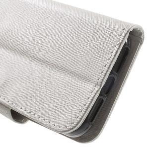 Cross PU kožené pouzdro na iPhone SE / 5s / 5 - bílé - 7