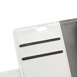 GX koženkové peněženkové na mobil Lenovo Vibe P1m - bílé - 7