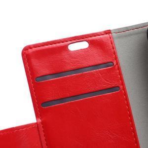 GX koženkové peněženkové na mobil Lenovo Vibe P1m - červené - 7