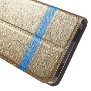 Klopové pouzdro na mobil Lenovo Vibe P1m - zlaté - 7