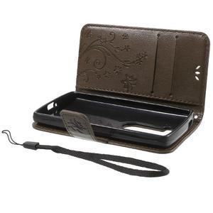 Buttefly PU kožené pouzdro na mobil LG Leon - coffee - 7