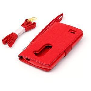 Magicfly pouzdro na mobil LG Leon - červené - 7