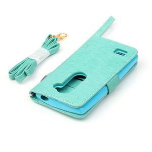 Magicfly pouzdro na mobil LG Leon - cyan - 7