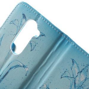 Emotive knížkové pouzdro na mobil LG Leon - vodní květ - 7