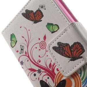 Emotive knížkové pouzdro na mobil LG Leon - motýlci - 7