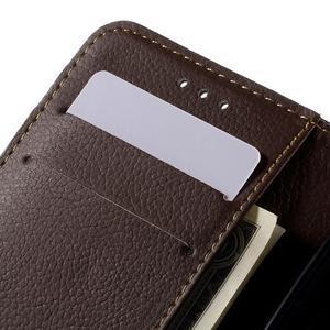 Leaf PU kožené pouzdro na mobil LG Leon - černé - 7