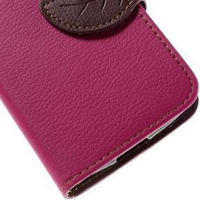 Leaf PU kožené pouzdro na mobil LG Leon - rose - 7