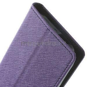 Style peněženkové pouzdro HTC One Mini 2 - fialové - 7