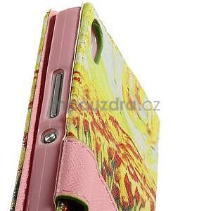Obrazové peněženkové pouzdro na Huawei Ascend P7 - tulipány - 7