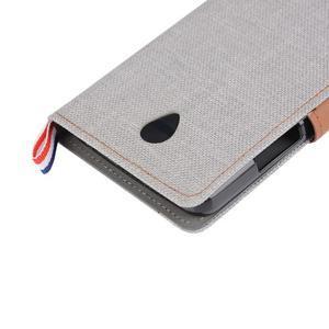 Jeans peněženkové pouzdro na Lenovo A5000 - šedé - 7