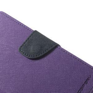 Fancy peněženkové pouzdro na Sony Xperia Z2 - fialové - 7