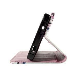 Cross peněženkové pouzdro na Xiaomi Mi4 - fialové květy - 7