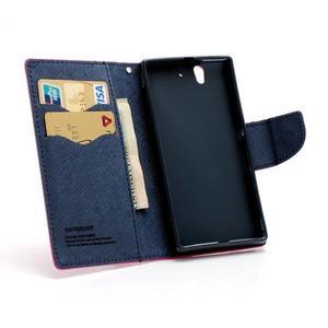 Mr. Goos peněženkové pouzdro na Sony Xperia Z - rose - 7