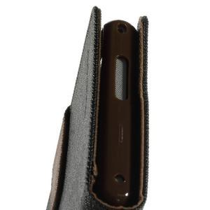 Mr. Goos peněženkové pouzdro na Sony Xperia M2 - černé/hnědé - 7