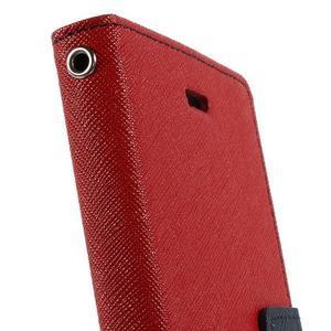 Mr. Goos peněženkové pouzdro na Sony Xperia M2 - červené - 7