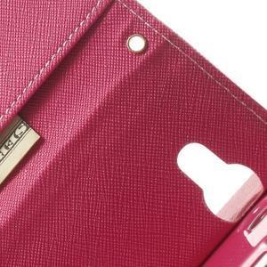 Mr. Goos peněženkové pouzdro na Sony Xperia M2 - růžové - 7