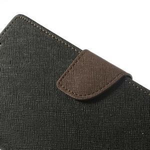 Fancy peněženkové pouzdro na Sony Xperia Z2 - černé/hnědé - 7