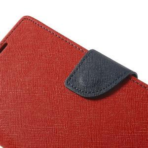 Fancy peněženkové pouzdro na Sony Xperia Z2 - červené - 7