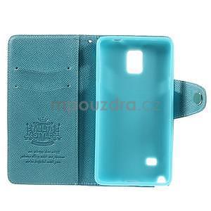 Zapínací peněženkové poudzro Samsung Galaxy Note 4 - světle modré - 7
