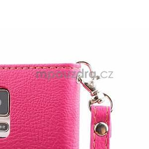 Peněženkové pouzdro s poutkem na Samsung Galaxy Note 4 - rose - 7