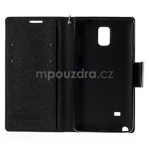 Stylové peněženkové pouzdro na Samsnug Galaxy Note 4 - černé - 7