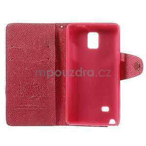 Zapínací peněženkové poudzro Samsung Galaxy Note 4 - rose - 7