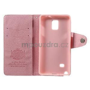 Zapínací peněženkové poudzro Samsung Galaxy Note 4 - růžové - 7