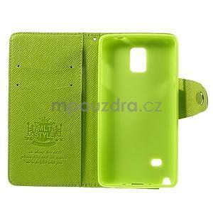 Zapínací pěneženkové poudzro Samsung Galaxy Note 4 - zelené - 7