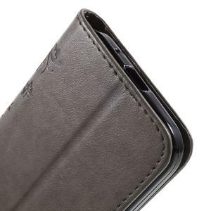 Butterfly PU kožené pouzdro na Samsung Galaxy Core Prime - šedé - 7