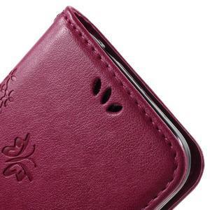 Butterfly PU kožené pouzdro na Samsung Galaxy Core Prime - rose - 7